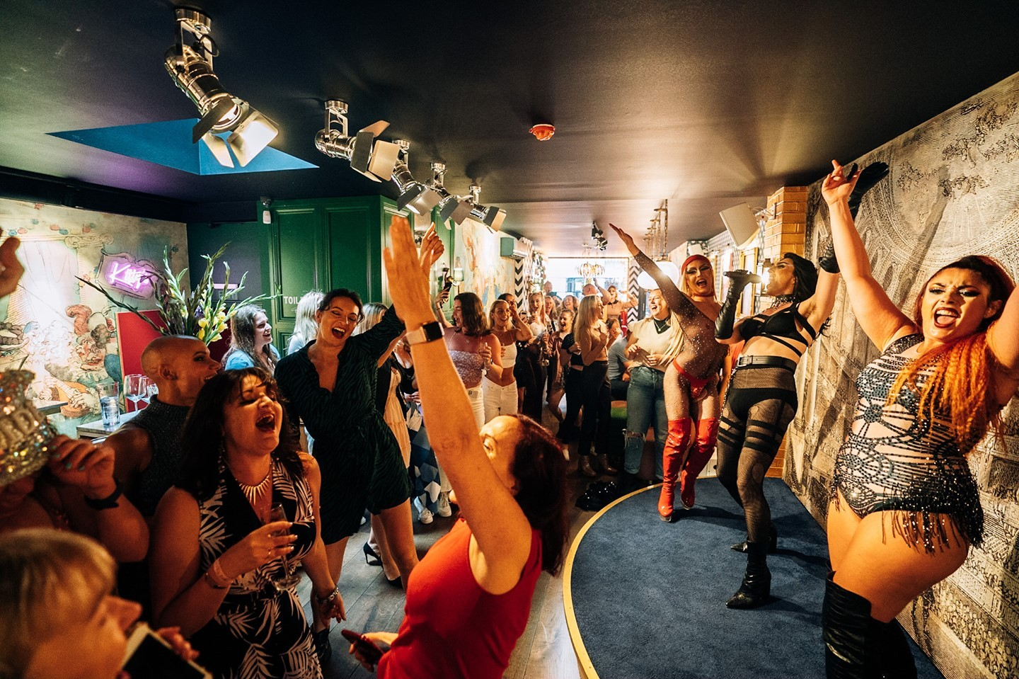 Getting up on your feet at Mrs Riot is a rite of passage!