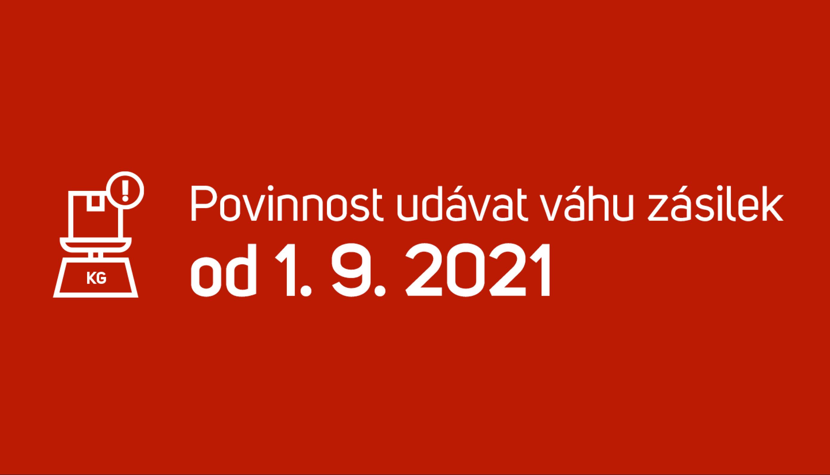 Zasilkovna: Povinnost udávat hmotnost zásilek od 1. 9. 2021