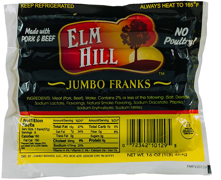Elm Hill Meats - Elm Hill Jumbo Franks