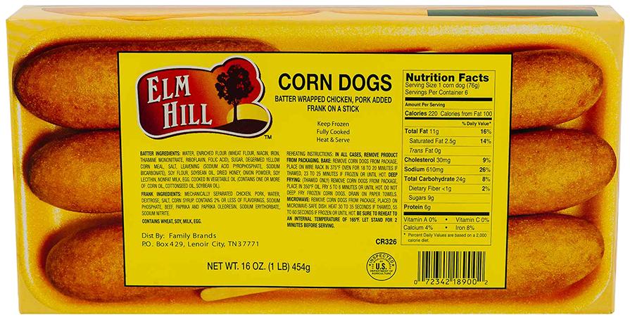 Elm Hill Meats - Elm Hill Corn Dogs Packaging