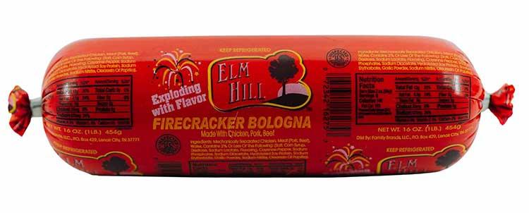 Elm Hill Meats - Firecracker Bologna Packaging