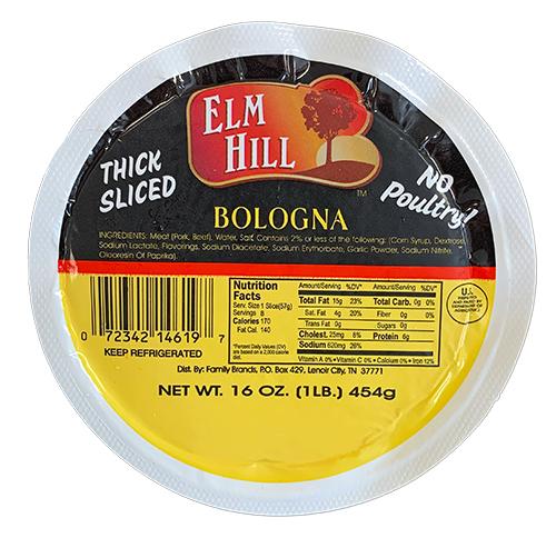Elm Hill Meats - Elm Hill Thick Sliced Bologna