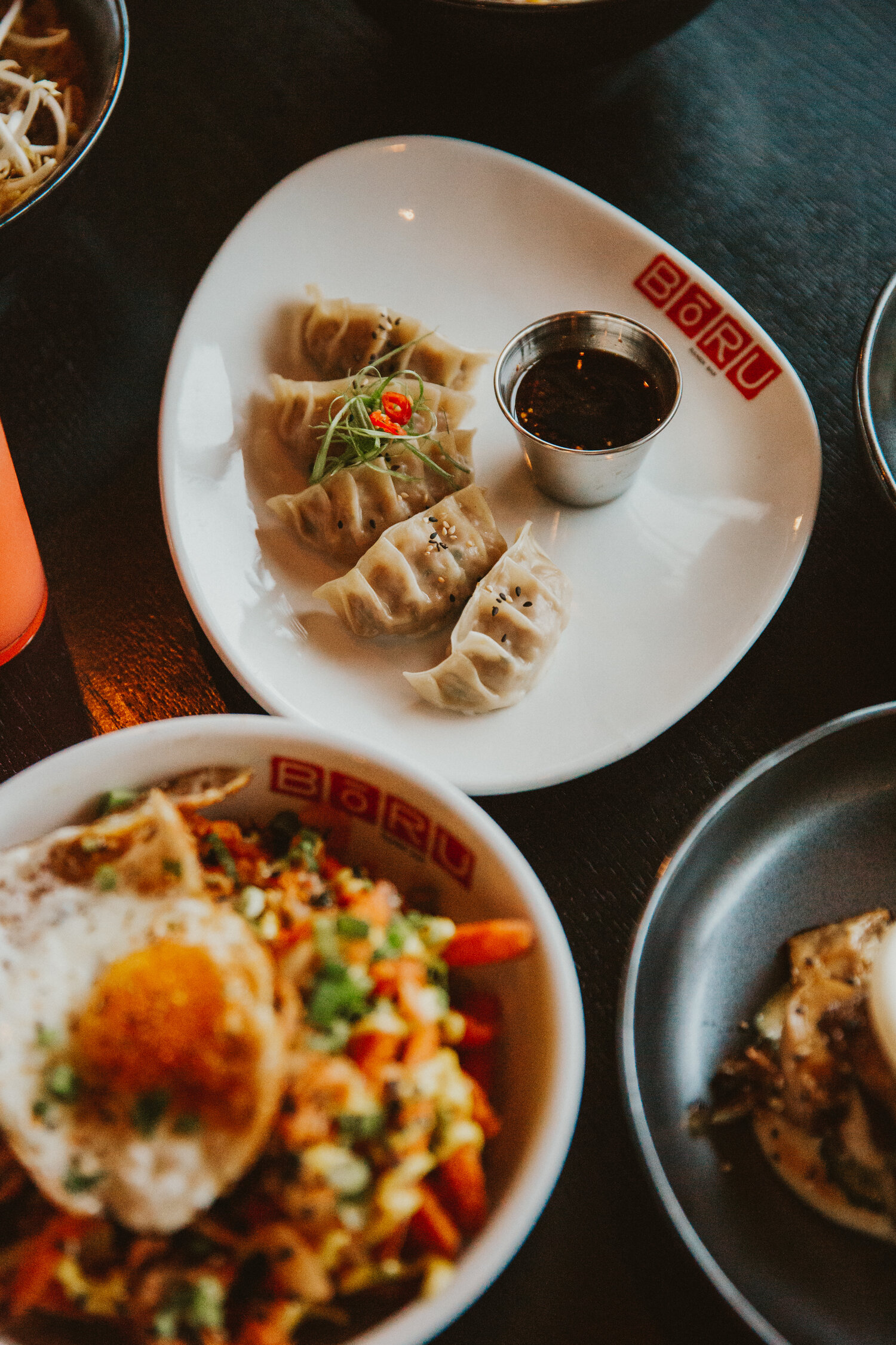 Variety of asian food
