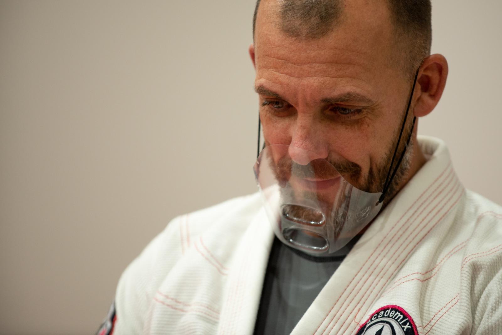 Master Morrison having fun in a Brazilian Jiu-Jitsu class