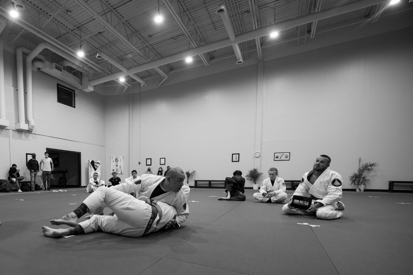 A Brazilian Jiu-Jitsu class