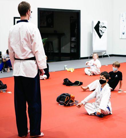 Martial Arts Instructor Teaching Class