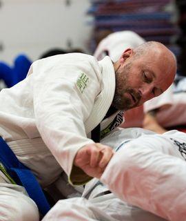 Martial Artist Practicing Brazilian Jiu-Jitsu