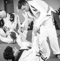 Two Teenagers doing Brazilian Jiu Jitsu