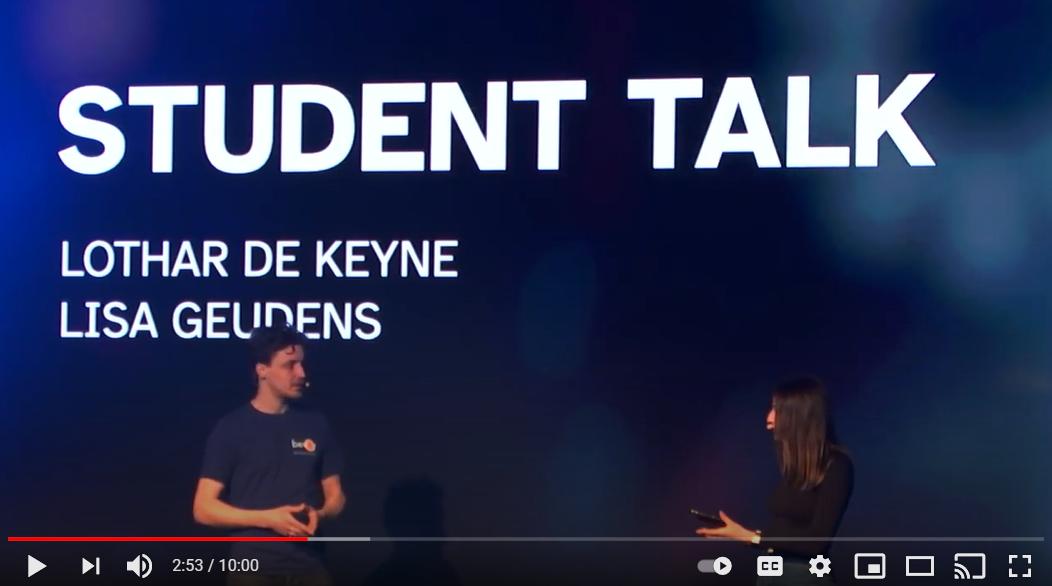Lothar De Keyne, Co-founder at Bevoy, on stage