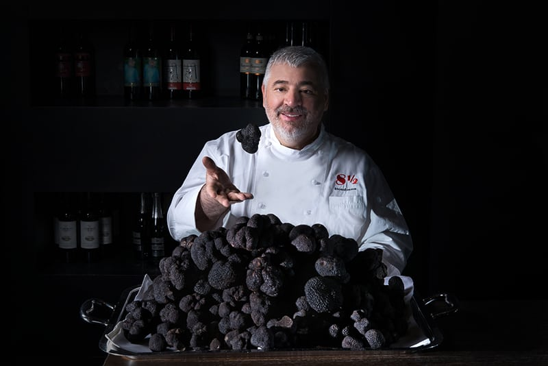 Chef Umberto Bombana, the truffle king, Otto e Mezzo