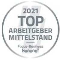 Signet: Focus Business hat generic.de als Top Arbeitgeber Mittelstand ausgezeichnet.