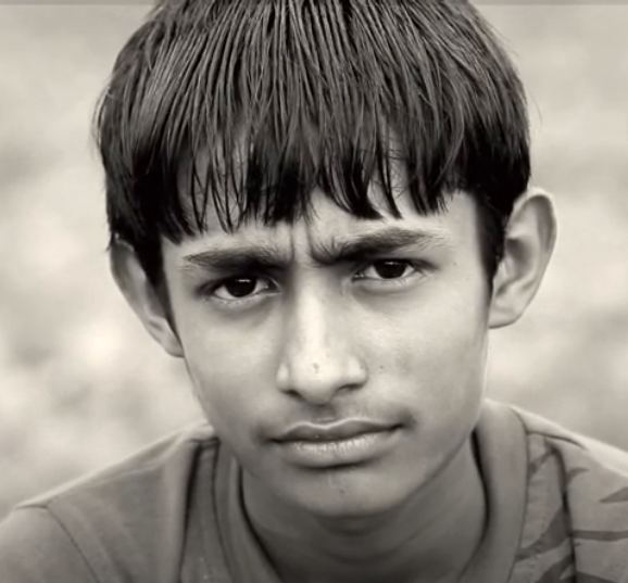 A picture of a poverty-stricken boy
