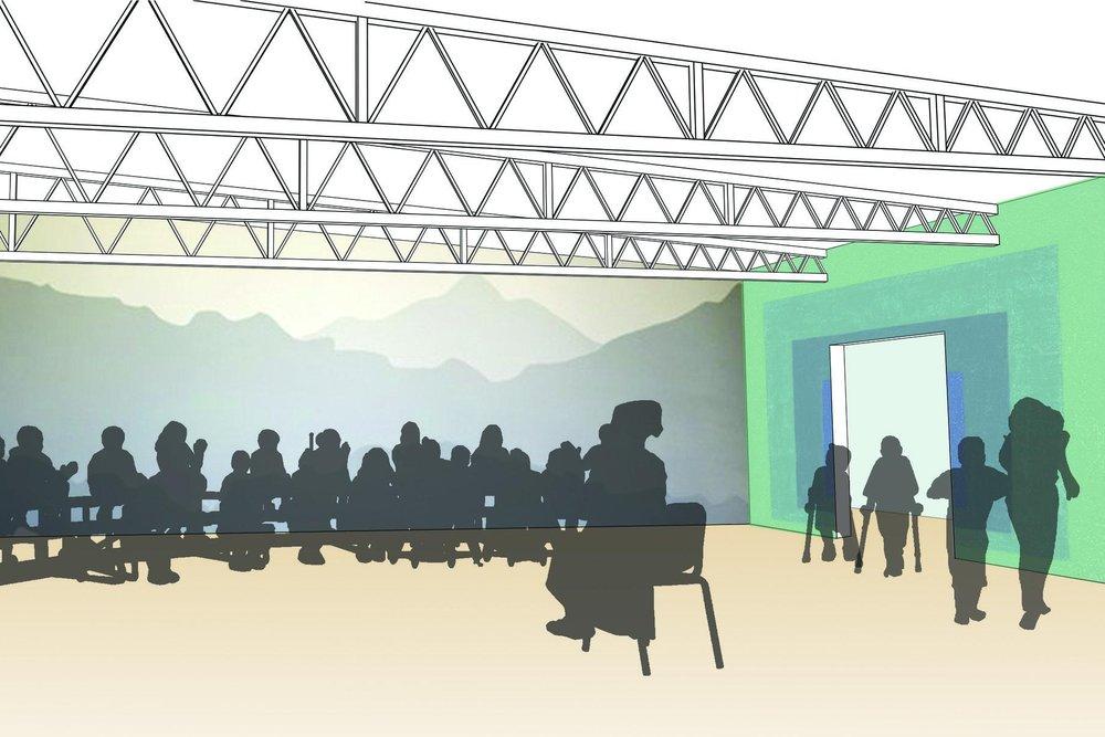A picture depicting the future auditorium