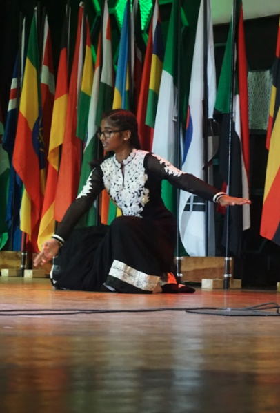 A girl doing a traditional dance