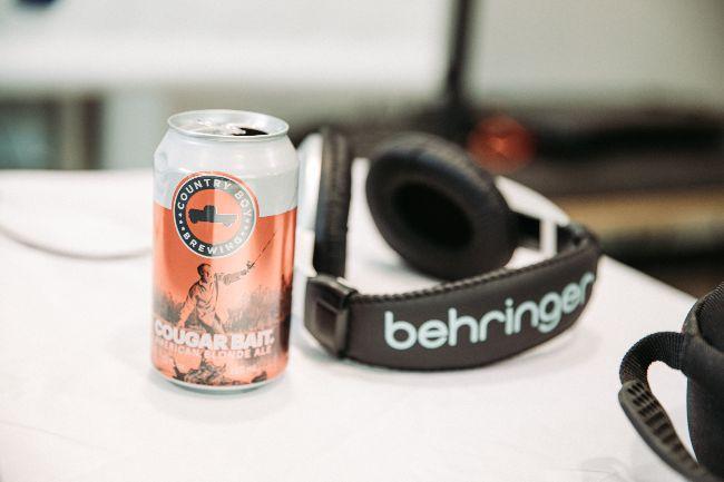 beer and headphones