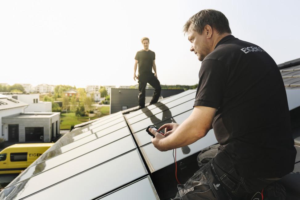 EIGENSONNE Solar system Installation process