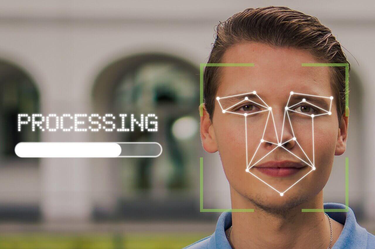 A facial recognition process