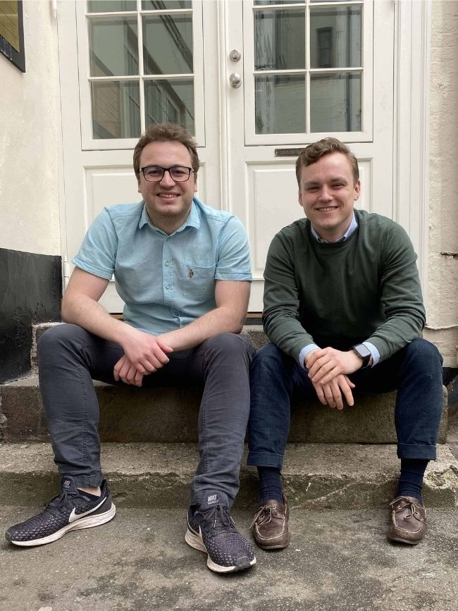 HelloFlow founders: Ciprian and Mikkel
