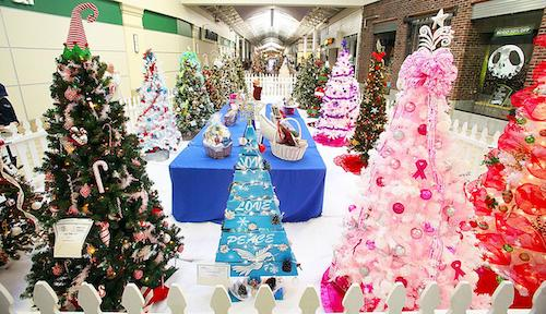 colorful christmas trees at festival of the trees sierra vista mall