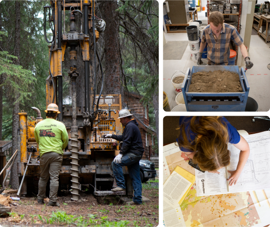 The Wallace Group team working in Bend, Oregon