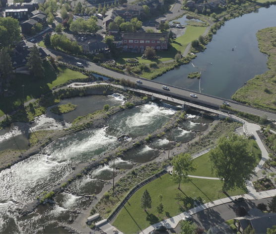 Whitewater park project in Bend, Oregon