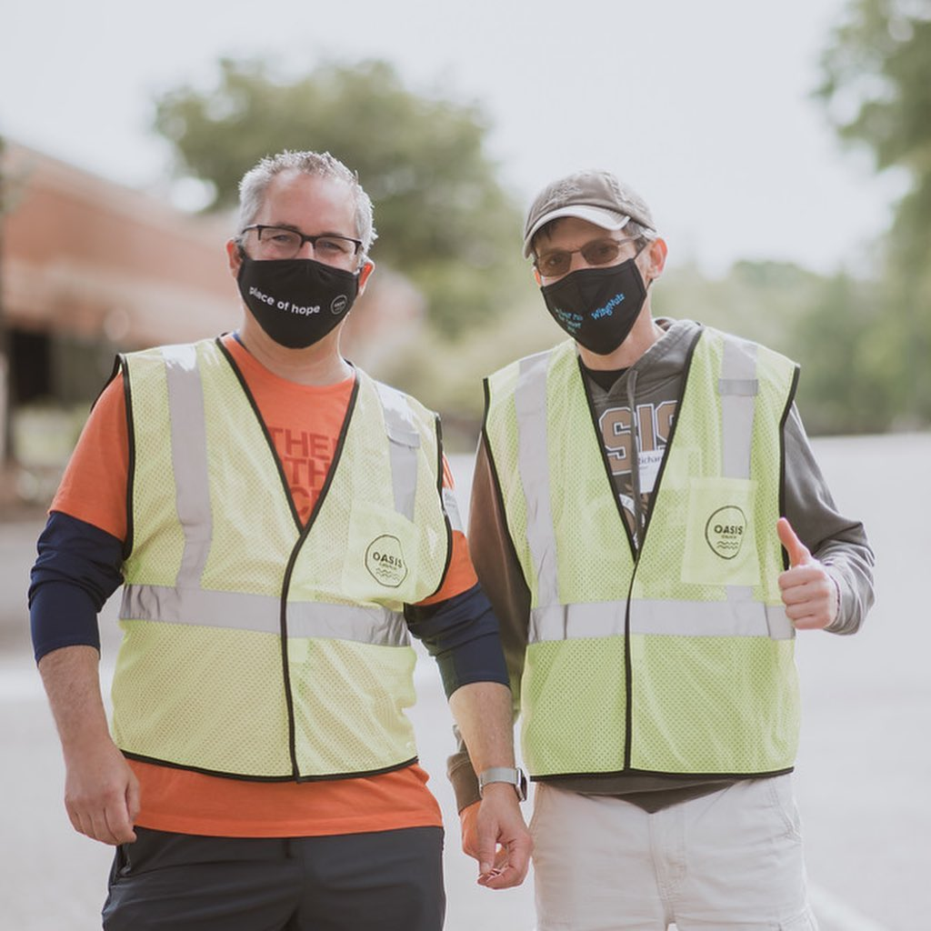 Two men on Parking Team at Oasis Church