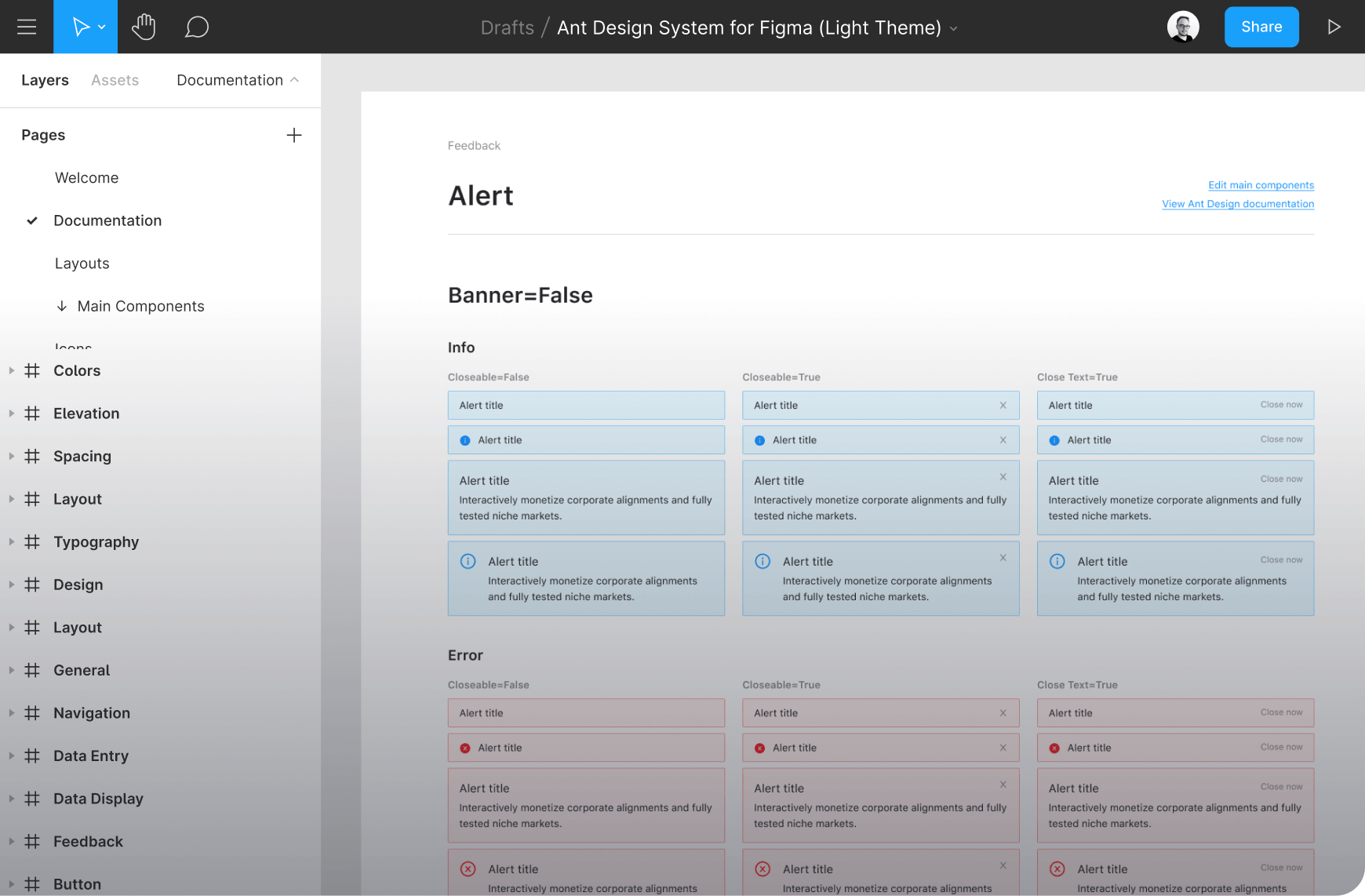 Ant for Figma UI