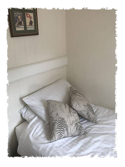 The bedroom in Glaisdale Cottage, Staithes.