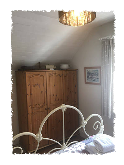 A view of the bedroom in Glaisdale Cottage in Staithes.