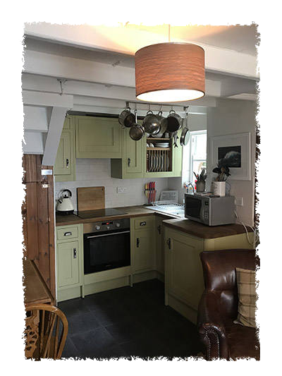 This is a picture of the kitchen in Glaisdale Cottage in Staithes.
