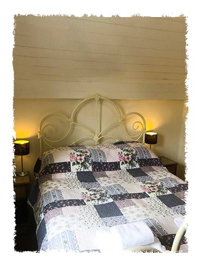 The master bedroom in Glaisdale Cottage in Staithes.