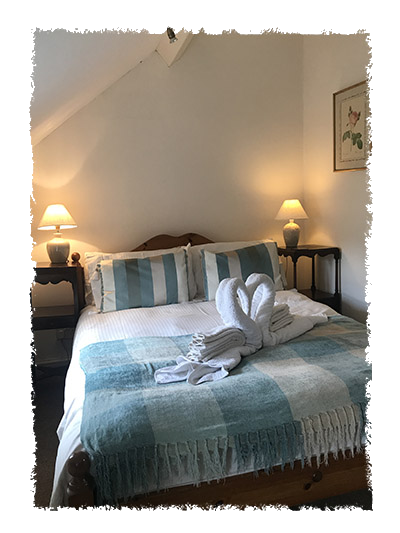 A view of the bedroom in Confidence Cottage, Staithes.