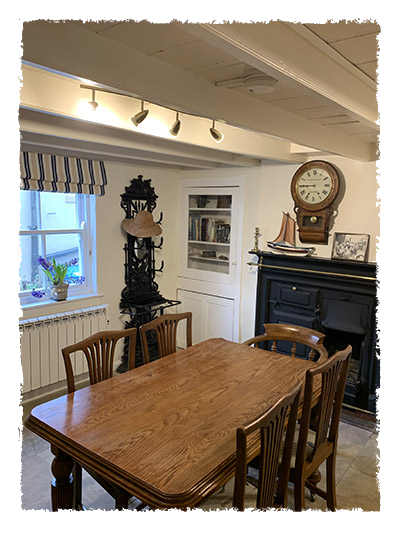 Another view of the kitchen in Confidence Cottage, Staithes.