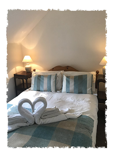 The bedroom in Confidence Cottage, Staithes.