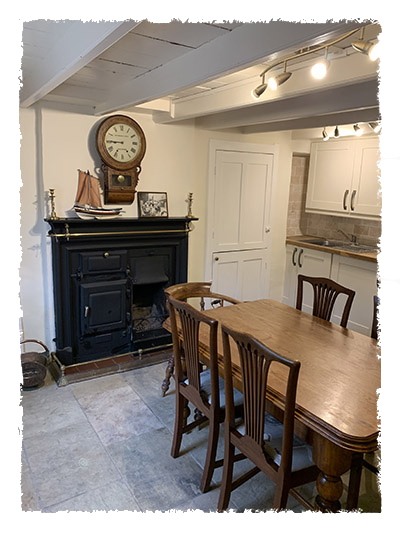 The kitchen in  Confidence Cottage, Staithes.