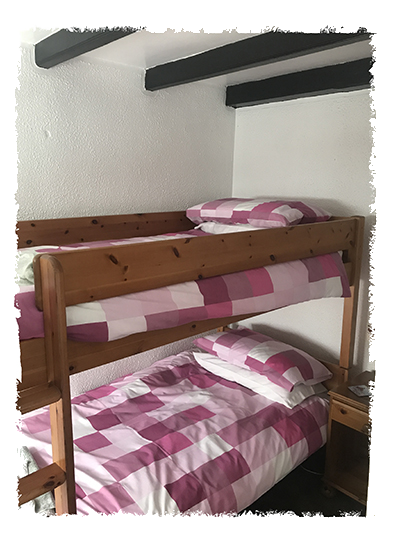 The bunk beds in Kessen Bowl in Staithes.