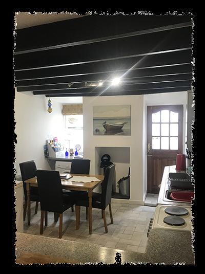 The kitchen in Kessen Bowl in Staithes.