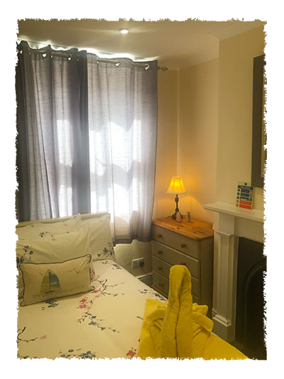 One of the bedrooms in Rose of England House, Staithes.