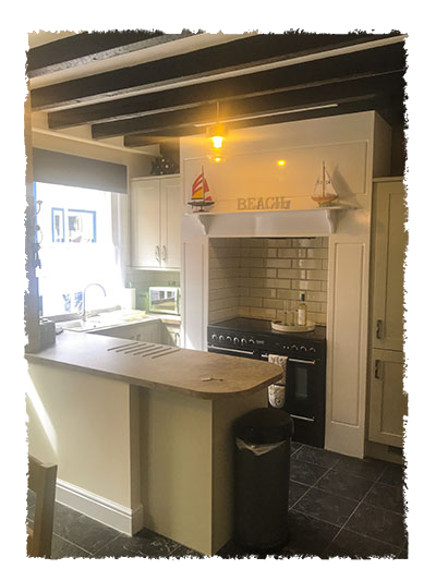 The kitchen in Rose of England House, Staithes.
