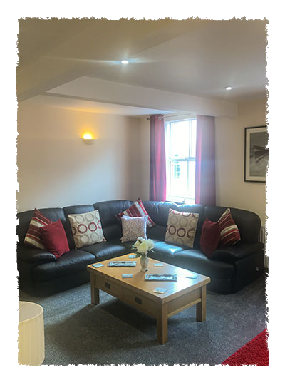 A view of the lounge in Rose of England House, Staithes.