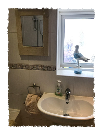 Another picture of the bathroom in Shangri-La, Staithes.