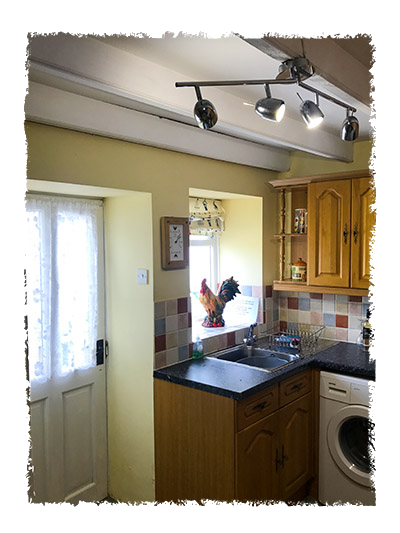 The kitchen in Shangri-La, Staithes.