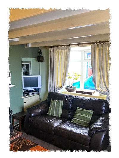 The lounge in Shangri-La, Staithes.