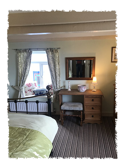 One of the bedrooms in Shangri-La, Staithes.