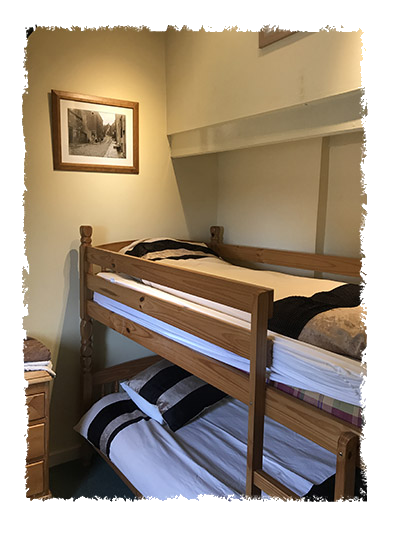The bunk beds in Shangri-La, Staithes.