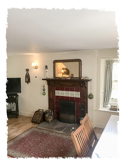 The lounge in Sunnydene Cottage, Staithes.