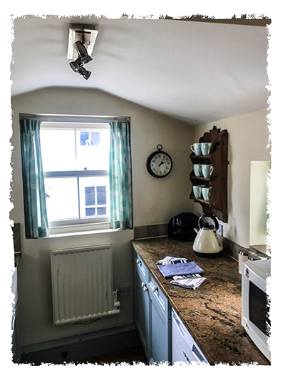 The kitchen in Sunnydene Cottage, Staithes.