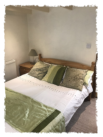 One of the bedrooms  in The Old Watch House, Staithes.