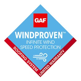 GAF products provide windproven infinite wind speed protection