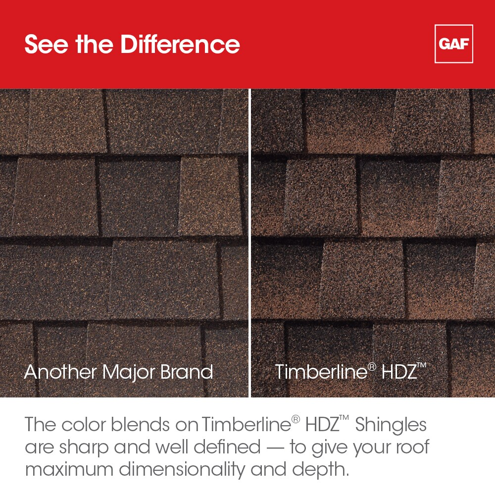 See the difference utilizing GAF Timbeline HDZ